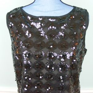 An Original Milly NY Black Sequined Tank Top NWT
